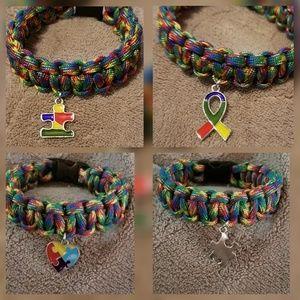 Autism awareness paracord bracelets